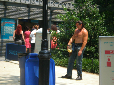 He-Man angered by trash can